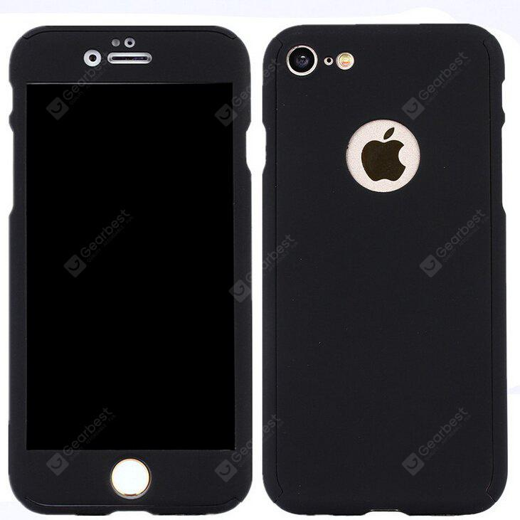Full Body Cover Case with Tempered Glass Film for iPhone 7
