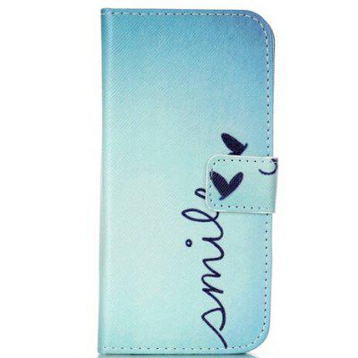 Letter Printing Stand Cover PU Leather Full Body Case for iPhone 6 Plus Credit Card Holder