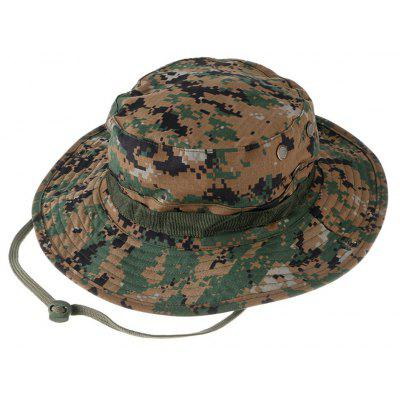 Outdoor Breathable Cotton Boonie Hat with Round Brim