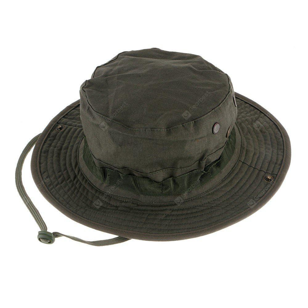 Buy Outdoor Breathable Cotton Boonie Hat Round Brim ARMY GREEN
