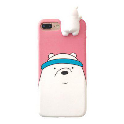 Novelty Panda Pattern Back Cover Case for iPhone 7 Plus