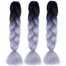 60cm Ombre Braided Wig Synthetic Hair