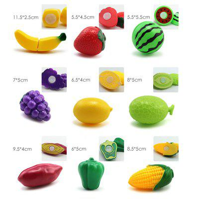 10pcs Plastic Kitchen Food Fruit Vegetable Cutting Kids Toy от GearBest.com INT