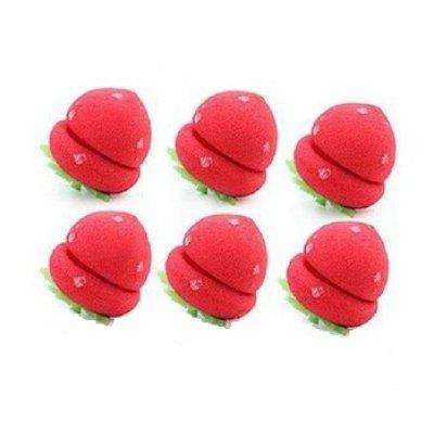 6pcs Strawberry Balls Hair Curlers