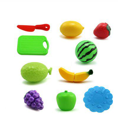 Buy COLORMIX 10pcs Plastic Kitchen Food Fruit Vegetable Cutting Kids Toy for $7.08 in GearBest store