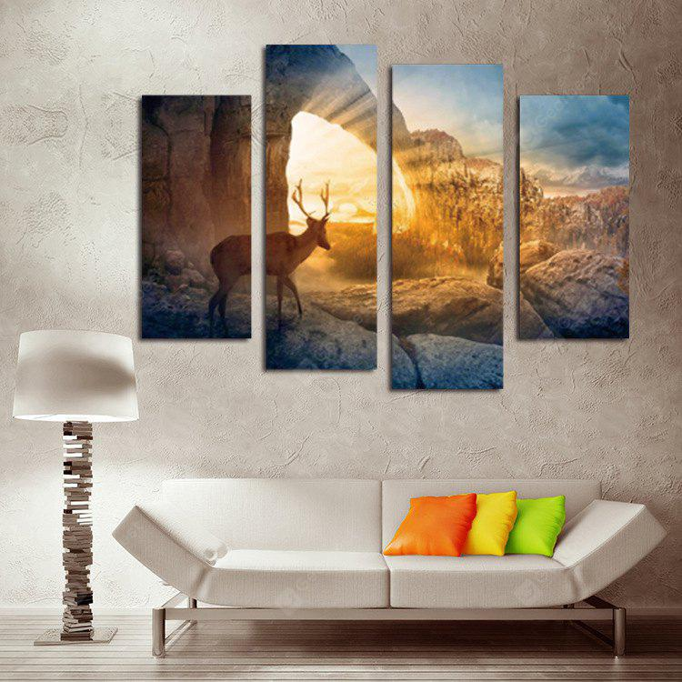 Deer Design Printing Canvas Wall Decoration