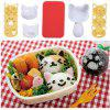 Lovely Cat-shaped Sushi Rice Ball Mold Silicone Baking Mat Seaweed Cutter Set - WHITE