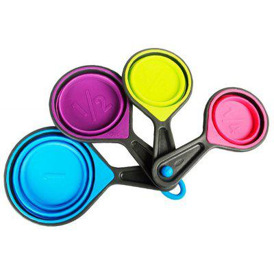Collapsible Silicone Measuring Spoons 4Pcs