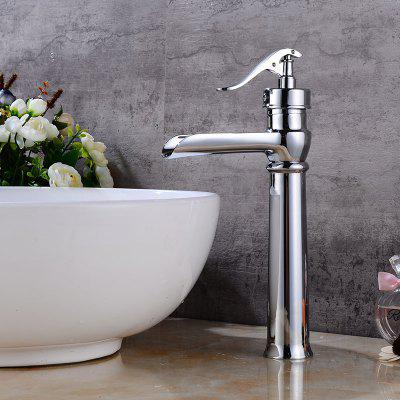 Buy WHITE Waterfall Brass Single Handle Bathroom Sink Faucet for $64.14 in GearBest store