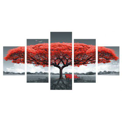 5pcs Giant Tree Bench Printing Canvas Wall Decoration