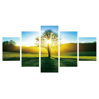 5pcs Tree Printing Canvas Wall Decoration
