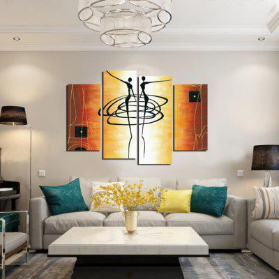 4pcs Dancer Printing Canvas Wall Decoration