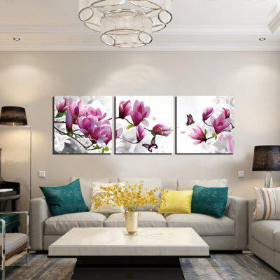 3pcs Flower Printing Canvas Wall Decoration
