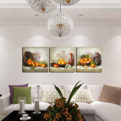 3pcs Fruit Printing Canvas Wall Decoration