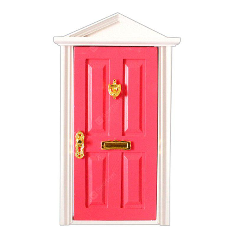 1:12 Doll House Decoration Accessories Steepletop Door Toy
