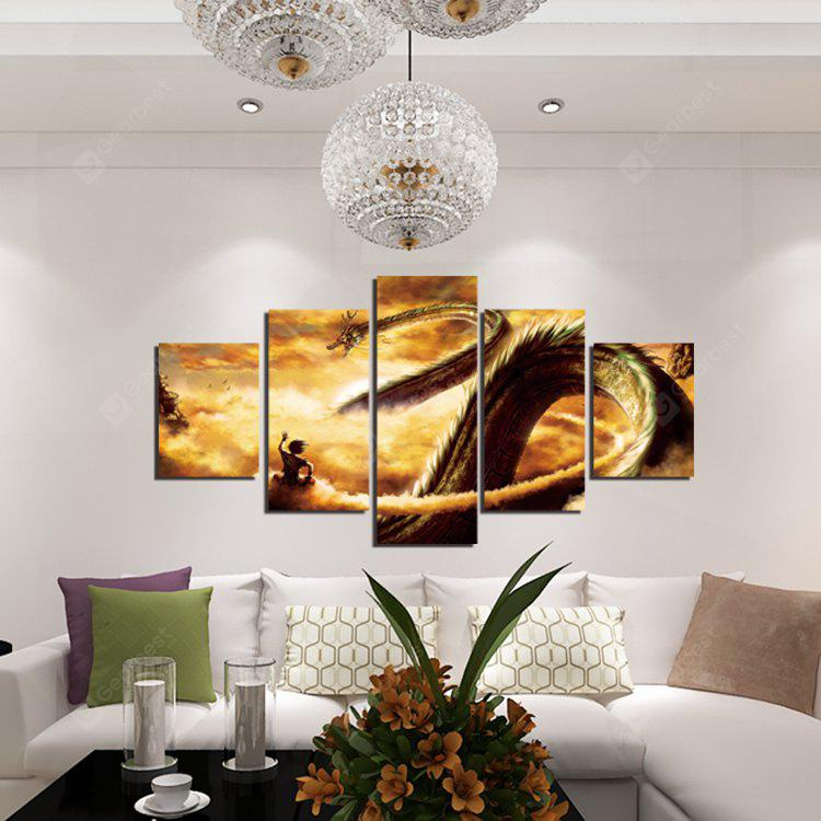 5pcs Loong Printing Canvas Wall Decoration