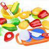 12pcs Kitchen Toys Fruit Cut Tool - COLORMIX