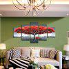 5pcs Giant Tree Bench Printing Canvas Wall Decoration - MULTI