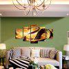 5pcs Loong Printing Canvas Wall Decoration - MULTI