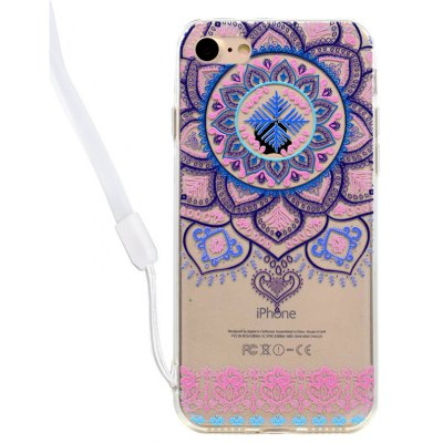 Lace Floral Design Acrylic Back Case for iPhone 7