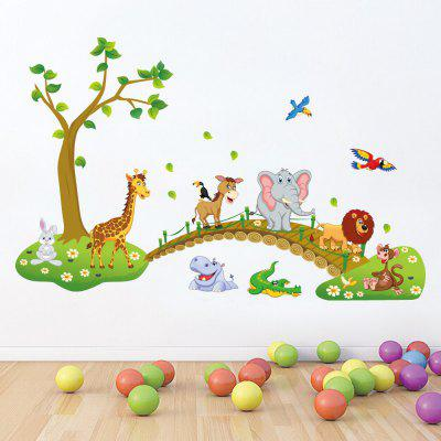 Kids Cartoon Forest Animal Removable Wall Sticker