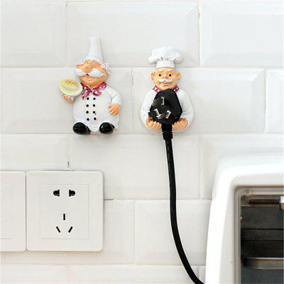 BW - 59 Creative Cartoon Style Plug Storage Rack 2pcs