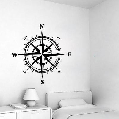 Compass Design Waterproof Wall Sticker