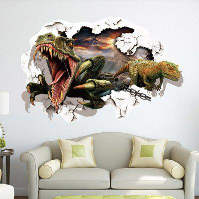 3D Dinosaurs Design Wall Sticker