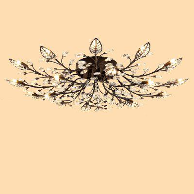 LightMyself YQ6626 - 18 Crystal Ceiling LightChandelier<br>LightMyself YQ6626 - 18 Crystal Ceiling Light<br><br>Brand: LightMyself<br>Illumination Field: 30 - 40sqm<br>Package Contents: 1 x Ceiling Light, 1 x Remote Controller<br>Package size (L x W x H): 48.00 x 41.00 x 27.00 cm / 18.9 x 16.14 x 10.63 inches<br>Package weight: 8.5200 kg<br>Product size (L x W x H): 100.00 x 100.00 x 20.00 cm / 39.37 x 39.37 x 7.87 inches<br>Product weight: 8.0000 kg<br>Sheathing Material: Crystal, Iron<br>Type: Ceiling Lights<br>Voltage (V): AC 110-120V,AC 220-240
