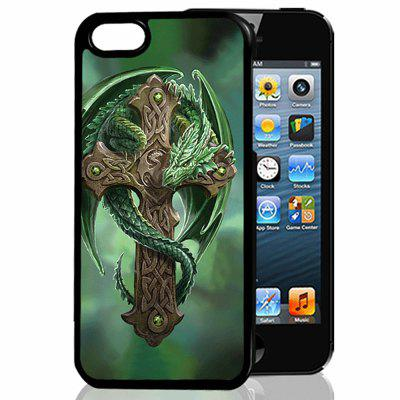 3D Relief Dragon Cross TPU Phone Case