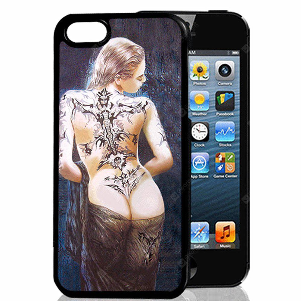 Buy 3D Relief Tattoo Beautiful Girl TPU Phone Case COLORMIX