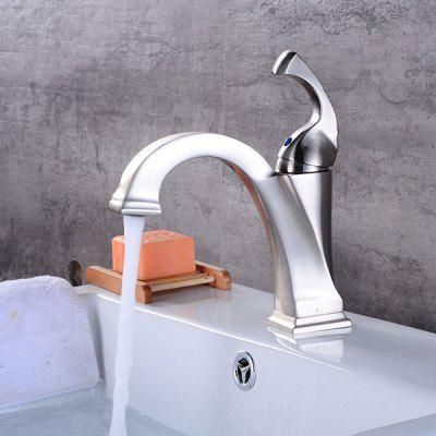 A21 Brushed Bathroom Sink Faucet with Single Handle ноутбук lenovo v110 15ast 15 6 amd a6 9210 2 4ггц 4гб 500гб amd radeon r4 free dos черный [80td002jrk]