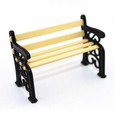 Doll House Miniature Modern Park Bench Toy