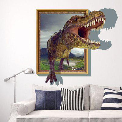 DSU Creative Dinosaur 3D Wall Sticker Wallpaper
