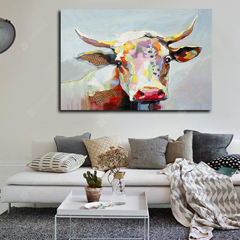 Canvas Oil Painting Caw Head Hand Painted Home Decor