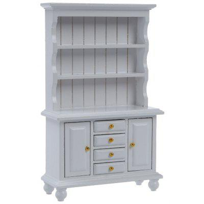 Buy WHITE Kids Miniature Wooden Cabinet for Doll House for $10.55 in GearBest store