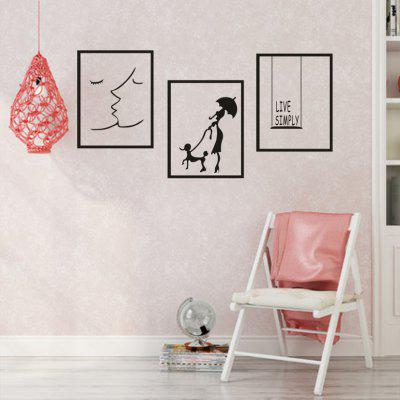 AY - 335 Creative DIY Border Combination Decorative Wall Sticker
