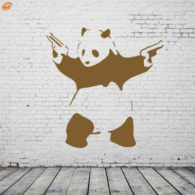 Buy BROWN AY 296 Creative DIY Panda Decorative Wall Sticker for $7.49 in GearBest store