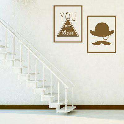 Buy BROWN AY 349 Creative DIY Border Combination Wall Sticker for $6.84 in GearBest store