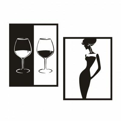 AY - 350 DIY Vinho tinto e Beauty Border Combination Wall Sticker