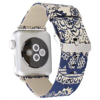 Silk Cloth Pattern Watchband for Apple Watch