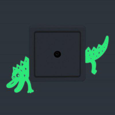 Luminous Dinosaur Wall StickerWall Stickers<br>Luminous Dinosaur Wall Sticker<br><br>Art Style: Plane Wall Stickers<br>Functions: Decorative Wall Stickers<br>Material: Vinyl(PVC)<br>Package Contents: 1 x Wall Sticker<br>Package size (L x W x H): 12.00 x 4.00 x 4.00 cm / 4.72 x 1.57 x 1.57 inches<br>Package weight: 0.0400 kg<br>Product size (L x W x H): 12.00 x 10.00 x 0.10 cm / 4.72 x 3.94 x 0.04 inches<br>Product weight: 0.0150 kg