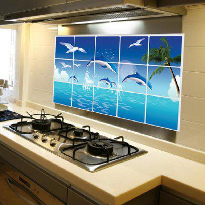 Buy BLUE Blue Dolphin Seagull Ocean Design Sticker for $4.30 in GearBest store