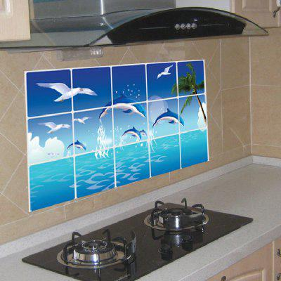 Blue Dolphin Seagull Ocean Design StickerWall Stickers<br>Blue Dolphin Seagull Ocean Design Sticker<br><br>Function: Decorative Wall Sticker<br>Material: Self-adhesive Plastic<br>Package Contents: 1 x Sticker<br>Package size (L x W x H): 45.00 x 5.00 x 5.00 cm / 17.72 x 1.97 x 1.97 inches<br>Package weight: 0.0900 kg<br>Product size (L x W x H): 75.00 x 45.00 x 0.30 cm / 29.53 x 17.72 x 0.12 inches<br>Product weight: 0.0500 kg<br>Subjects: Animal<br>Suitable Space: Bedroom,Kids Room,Kitchen,Living Room<br>Type: Plane Wall Sticker
