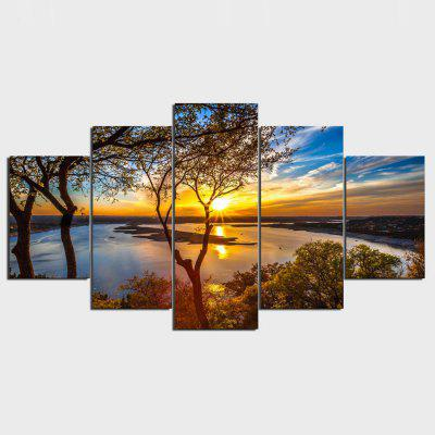 YSDAFEN 5PCS Landscape Printing Canvas Wall Decoration