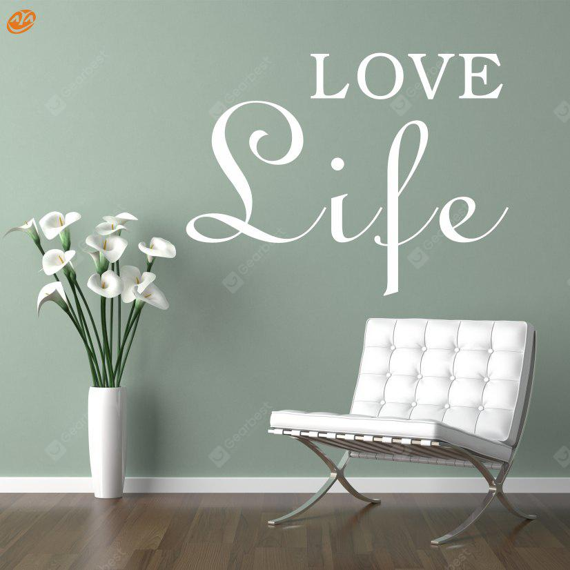 Buy AY - 264 Creative DIY English Decorative Wall Sticker WHITE