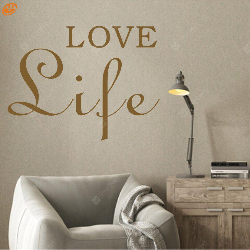 Buy AY - 264 Creative DIY English Decorative Wall Sticker BROWN