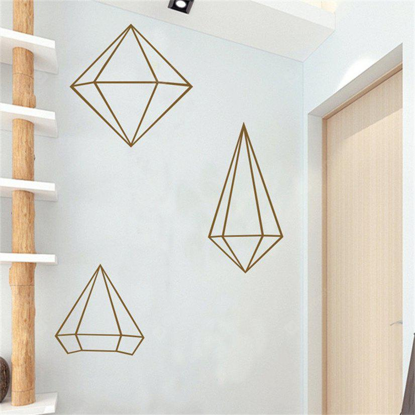 Buy AY - 368 Creative DIY Geometric Style Wall Sticker BROWN