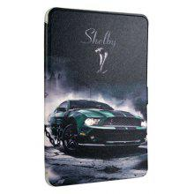 Sports Car Cartoon Pattern Tablet Cover for Samsung Tab T560