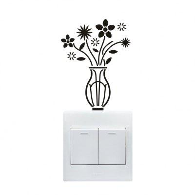 DIY Fluorescence Vase Luminous Switch Wall Sticker